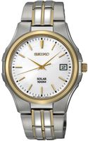 Seiko Mens Solar Two Tone Stainless Steel Bracelet 39mm Sne122 - Lyst