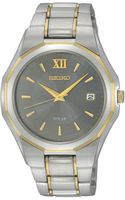 Seiko Mens Solar Two Tone Stainless Steel Bracelet 39mm Sne166 - Lyst