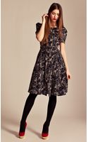 Alice By Temperley Heron Print Tea Dress - Lyst