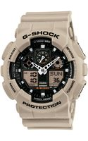 G-shock  Analog Digital Beige Resin Strap  - Lyst