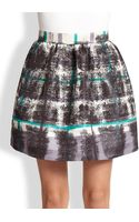 RED Valentino Tartanprint Skirt - Lyst