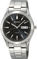 Seiko Mens Solar Stainless Steel Bracelet 37mm - Lyst