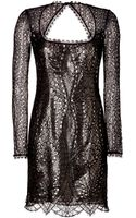 Emilio Pucci Lace Dress in Nero - Lyst