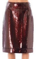 Marc Jacobs Sequinned Pencil Skirt - Lyst