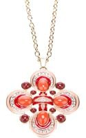 Tory Burch Geometric Pendant Necklace - Lyst