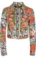 Versus  Printed Denim Jacket - Lyst