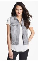 Two By Vince Camuto Denim Vest - Lyst