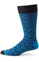 Hook + Albert Zig Zag Printed Socks - Lyst