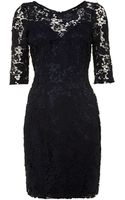 Lipsy Long Sleeved Lace Dress - Lyst