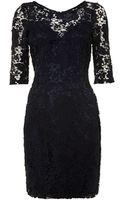 Lipsy Long Sleeved Lace Dress - Lyst