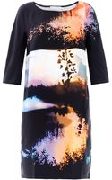 Mary Katrantzou Woodstock Sunset Print Silk Dress - Lyst