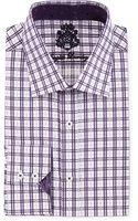 English Laundry Plaid Poplin Dress Shirt - Lyst