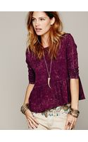Free People We The Free Solid Peplum Tee - Lyst
