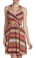 Marc New York By Andrew Marc Summer Wrap Halter Dress Multicolor - Lyst