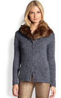 Ralph Lauren Black Label Shawl Collar Boyfriend Cardigan - Lyst