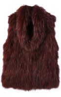 Meteo By Yves Salomon Fur Gilet - Lyst