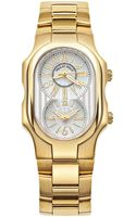 Philip Stein Goldplated Dual Dial Watch - Lyst