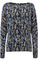 Pied A Terre Silk Print Batwing Top - Lyst