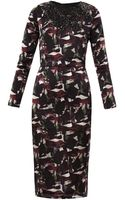 Saloni Marcel Dahlia Print Dress - Lyst