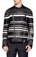 3.1 Phillip Lim Stitched Detailed Leather Jacket - Lyst