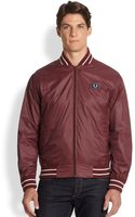 Fred Perry Tipped Nylon Bomber Jacket - Lyst