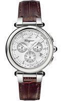 Ferragamo Idillio Calfskin-strap Chronograph Watch - Lyst