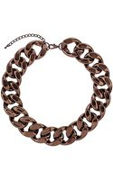 Topshop Large Chocolate Chain Necklace - Lyst