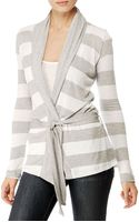 Splendid Loose Knit Rugby Stripe Belted Cardigan - Lyst