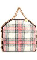 Stella McCartney Checked Wool Falabella Bag - Lyst