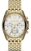Michael Kors Midsize Gold Tone Pressley Chronograph Glitz Watch 39mm - Lyst