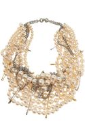 Tom Binns Pearls in Peril Gold Plated Swarovski Crystal Necklace - Lyst