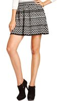 Jessica Simpson Graphic Aline Sweater Skirt - Lyst