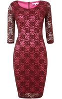 Glamorous Lace 34 Sleeved Dress - Lyst