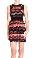 M Missoni Dress Sleeveless Knitted Weave Jacquard Multicolor - Lyst
