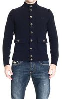 Fred Perry Cardigan with Pocket - Lyst