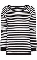 Mango Striped Sweater - Lyst