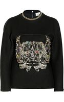 3.1 Phillip Lim Embellished Woolblend Felt Sweatshirt - Lyst