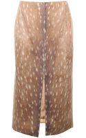 Carven Deer Print Long Skirt - Lyst