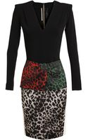 Roland Mouret Stretch Crepe Leopard Dress - Lyst