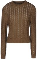 Theyskens' Theory Long Sleeve Sweater - Lyst