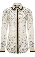 Preen White Harlequin Scott Blouse - Lyst
