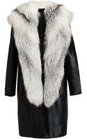 Revillon Fox Mink and Calf Hair Coat - Lyst