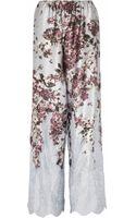 Rosamosario  Silk-satin Pajama Pants - Lyst