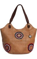 The Sak Indio Leather Tote Large - Lyst