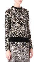 Giambattista Valli Leopard print Crewneck Jumper - Lyst