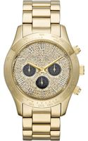 Michael Kors Layton Goldplated Chronograph Watch - Lyst