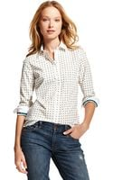 Tommy Hilfiger Diamond Print Structure Shirt - Lyst