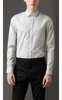 Burberry Slim Fit Striped Cotton Shirt - Lyst