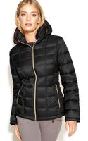 Michael Kors Hooded Quilted Down Packable Puffer - Lyst