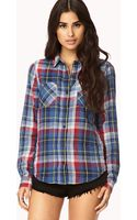 Forever 21 On The Range Plaid Flannel Shirt - Lyst